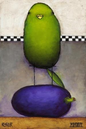 Eggplant Bird by Daniel Patrick Kessler