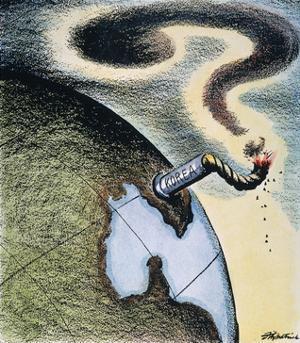 Korean War: Cartoon, 1950 by Daniel R. Fitzpatrick