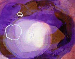Abstract Image in Various Shades of Purple by Daniel Root