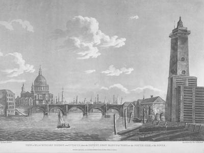 View of Blackfriars Bridge and St Paul's Cathedral, London, 1803