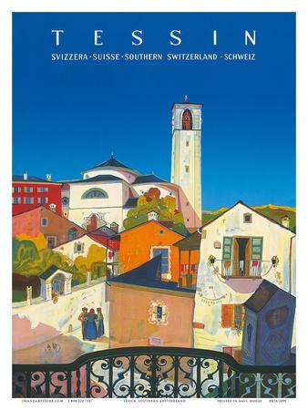 Tessin, Southern Switzerland, c.1943