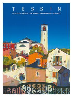 Tessin, Southern Switzerland, c.1943 by Daniele Buzzi