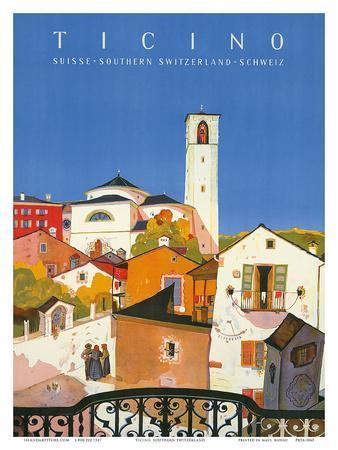 Ticino, Southern Switzerland, c.1943