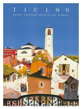 Ticino, Southern Switzerland, c.1943 by Daniele Buzzi