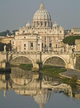 Saint Peter's Basilica and Ponte Sant'Angelo Reflected in the Tiber by Daniella Nowitz