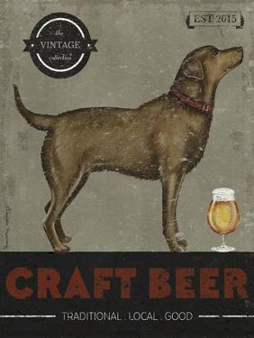 Craft Beer Dog Poster by Danielle Murray