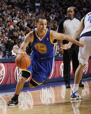 Golden State Warriors v Dallas Mavericks: Stephen Curry and Dirk Nowitzki by Danny Bollinger