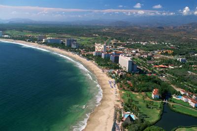 Aerial of Ixtapa Oceanfront