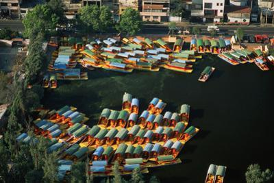 Aerial of Xochimilco Floating Gardens