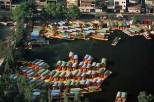 Aerial of Xochimilco Floating Gardens by Danny Lehman