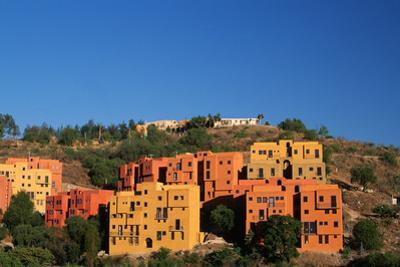 Apartment Houses Stacked on Hillside