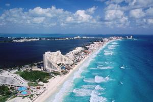Cancun Beach and Hotels by Danny Lehman