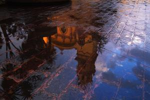 Church Reflected in Puddle by Danny Lehman
