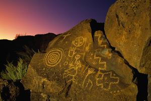 Detail of Petroglyphs at Petroglyph National Monument by Danny Lehman