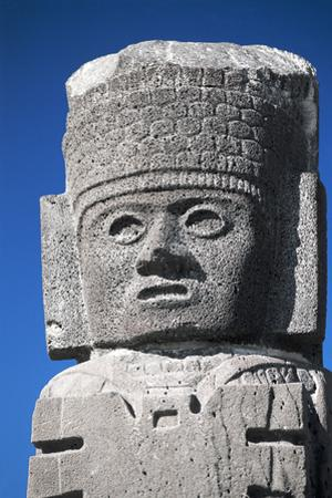Detail Showing Warrior's Head from Atlantes Statues at the Temple of the Morning Star
