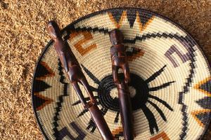 Embera Wood Carvings and Basket by Danny Lehman