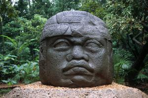 Giant Olmec Head at La Venta Park by Danny Lehman