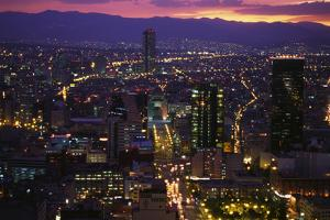 Mexico City at Twilight by Danny Lehman
