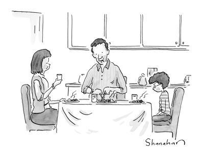 """""""And if you don't finish your vegetables, Daddy will take you to a Knicks ?"""" - New Yorker Cartoon"""