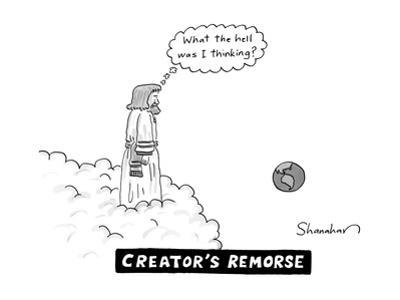 Creator's Remorse - New Yorker Cartoon by Danny Shanahan