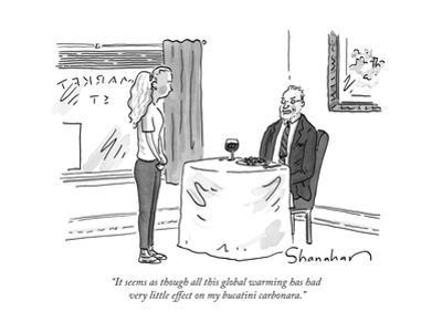 """""""It seems as though all this global warming has had very little effect on ..."""" - New Yorker Cartoon by Danny Shanahan"""
