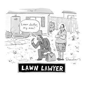 """""""Lawn Lawyer"""" - Cartoon by Danny Shanahan"""