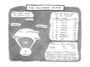 The All-Muse Team - New Yorker Cartoon by Danny Shanahan