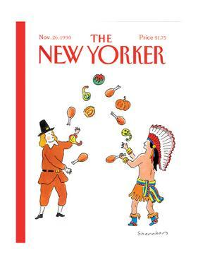 The New Yorker Cover - November 26, 1990 by Danny Shanahan
