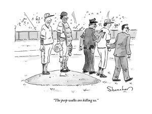 """""""The perp walks are killing us."""" - New Yorker Cartoon by Danny Shanahan"""