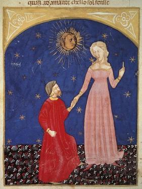 Beatrice Leading Dante, Paradise Scene from Divine Comedy by Dante Alighieri