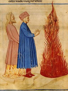 Dante and Virgil Meet Ulysses, Scene from Canto XXVI from Divine Comedy by Dante Alighieri