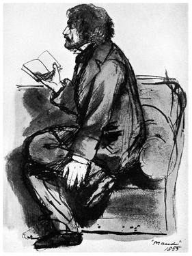 Alfred, Lord Tennyson, British Poet, 1855 by Dante Gabriel Rossetti