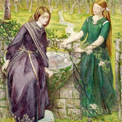 Dantes Vision of Rachel and Leah, 1855 by Dante Gabriel Rossetti