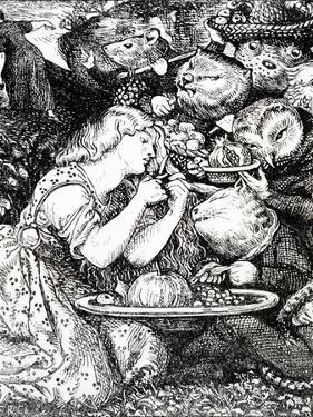 Frontispece to 'Goblin Market and Other Poems' by Christina Rossetti, Engraved by William Morris by Dante Gabriel Rossetti