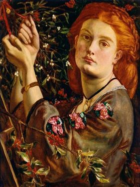Hanging the Mistletoe, 1860 by Dante Gabriel Rossetti