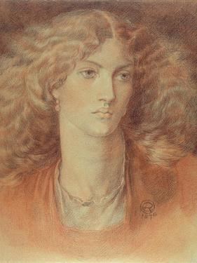 Head of a Woman, Called Ruth Herbert, 1876 (Red and Black Chalk on Paper) by Dante Gabriel Rossetti