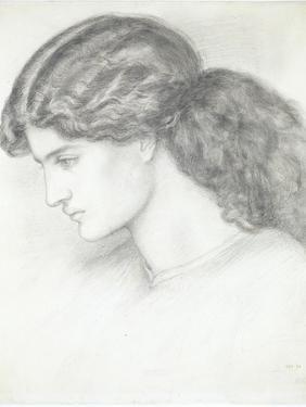 Jane Morris, the Wife of William Morris by Dante Gabriel Rossetti