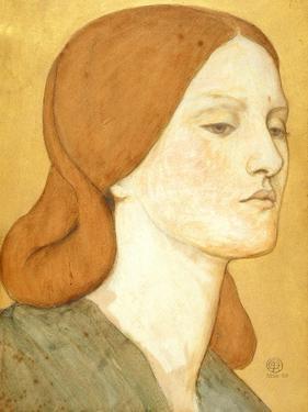 No.1575 Head of a Girl in a Green Dress (Elizabeth Siddal), 1850-65 by Dante Gabriel Rossetti