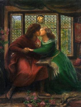 Paolo and Francesca Da Rimini, 1867 by Dante Gabriel Rossetti