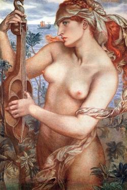 Siren/Mermaid Ligeia by Dante Gabriel Rossetti