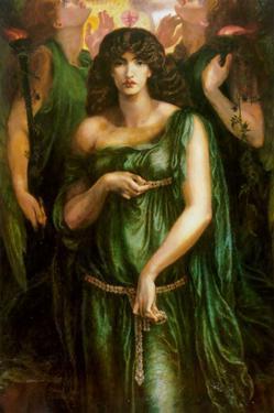 Syrian Astarte Pictured in a Trinity by Dante Gabriel Rossetti