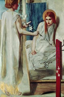 The Annunciation-Ecce Ancilla Domini (1840-50). by Dante Gabriel Rossetti
