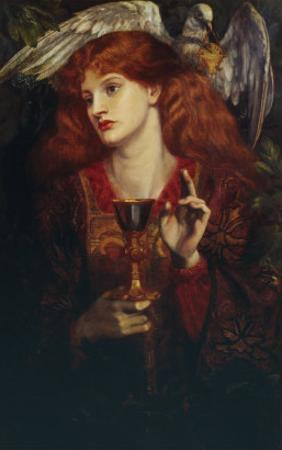 The Damsel of the Sanct Grail, 1874 by Dante Gabriel Rossetti