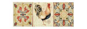 Bohemian Rooster Panel II by Daphne Brissonnet