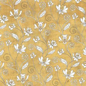 Color my World Lotus Pattern Gold by Daphne Brissonnet