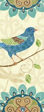 Eastern Tales Bird Panel I by Daphne Brissonnet
