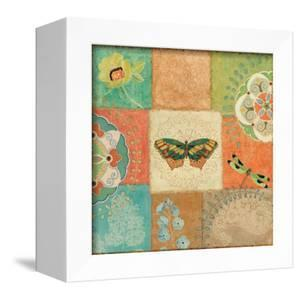 Folk Floral IV Center Butterfly by Daphne Brissonnet