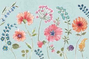 Gypsy Meadow I Blue by Daphne Brissonnet