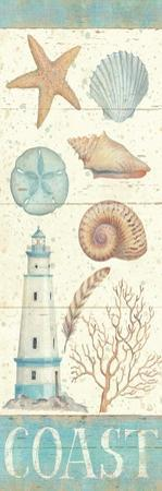 Pastel Coast Panel I by Daphne Brissonnet