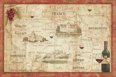 Wine Map by Daphne Brissonnet